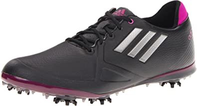 buy popular aa6e1 7f9c7 adidas Women s Adizero Tour Golf Shoe,Black Dark Silver Metallic Passion,6