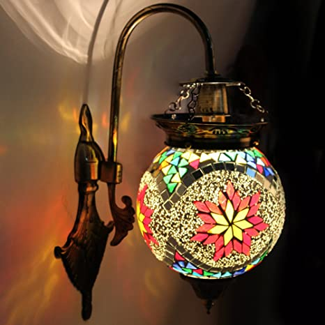 Earthenmetal Handcrafted Ball Shaped Hanging Wall Lamp/Light With Metal Fitting Wall Lights at amazon
