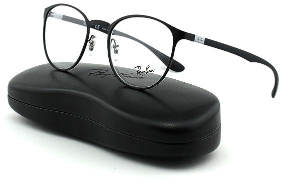 08779ca5e2a Ray-Ban RX6355 Unisex Round Metal Eyeglasses (Matte Black Frame 2503