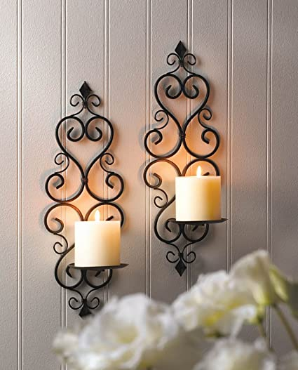 los angeles 95306 f8f8a Amazon.com: Hanging Candle Holder Wall Sconces Bedroom ...
