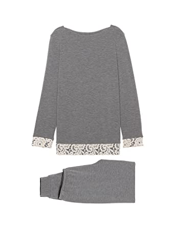 b7d319a435bf Intimissimi Womens Long Fleece-Cashmere Blend Pyjamas  Amazon.co.uk   Clothing