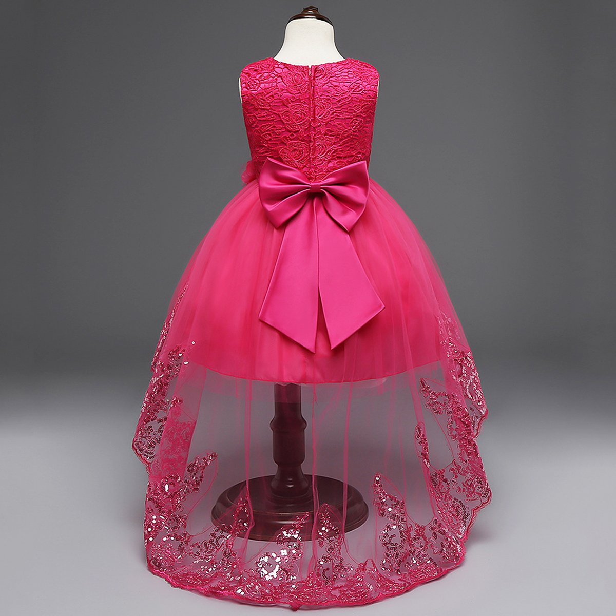IBTOM CASTLE Girls Sequins Lace Tulle Wedding Pageant Dresses Formal Flower Gown
