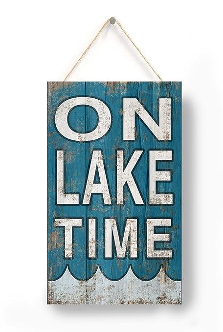 Amazon On Lake Time Sign Lake Decor Lake Lakehouse Decor New Lake Signs Wall Decor