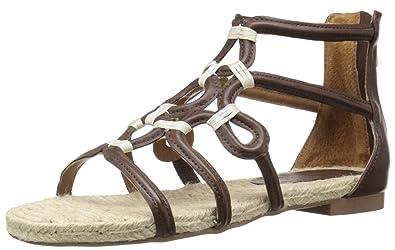 ADRIENNE VITTADINI Footwear Women's Pablic Gladiator Sandal, Dark Brown, ...