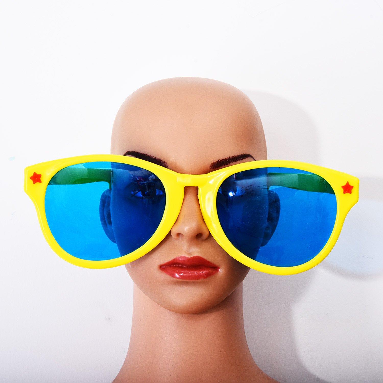 Sumind 4 Stück Jumbo Sonnenbrille Kunststoff Gläser Party Brillen für Strand Fancy Dress Party Angebot IHFES
