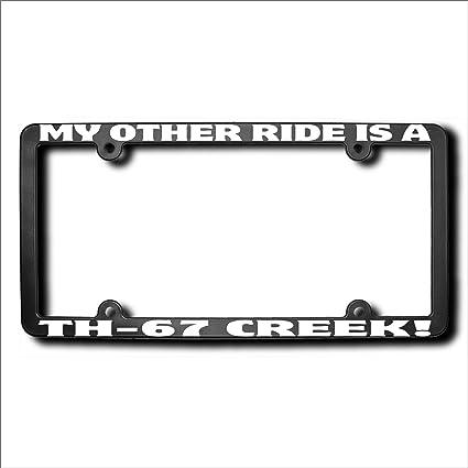 amazon com other ride th 67 creek license frame automotive