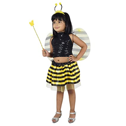 d3a90008f01d7 Buy Shri Nikunj Honey Bee Kids Costume Wear Fancy Dress 4-5 Years Online at  Low Prices in India - Amazon.in