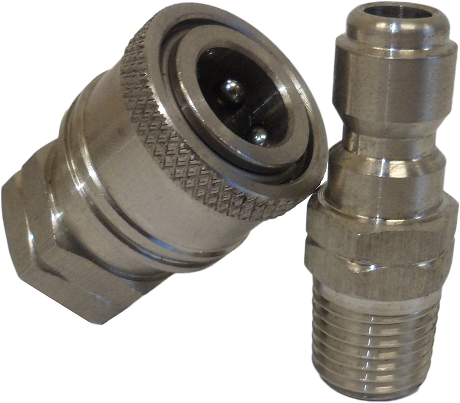 Ultimate Washer UW16-PWCA94 1/4-Inch High Pressure Quick Disconnect Adapter Set, Replaces Apache 98441022, 5000 PSI Rating