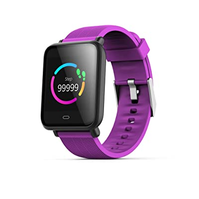 "DHAO Smart Watch Fitness Tracker with Heart Rate Monitor Activity Tracker with 1.3"" TFT HD Screen IP67 Waterproof Pedometer Smartwatch with Sleep Monitor Step Counter for Kids Women Men (Purple): Kitchen & Dining"