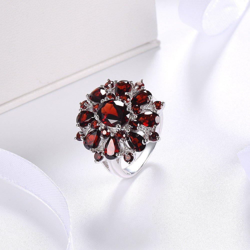 XBKPLO Rings for Women Pomegranate Ruby Diamond Wedding Accessories Jewelry Gift Size 6-10 (10) by XBKPLO (Image #3)