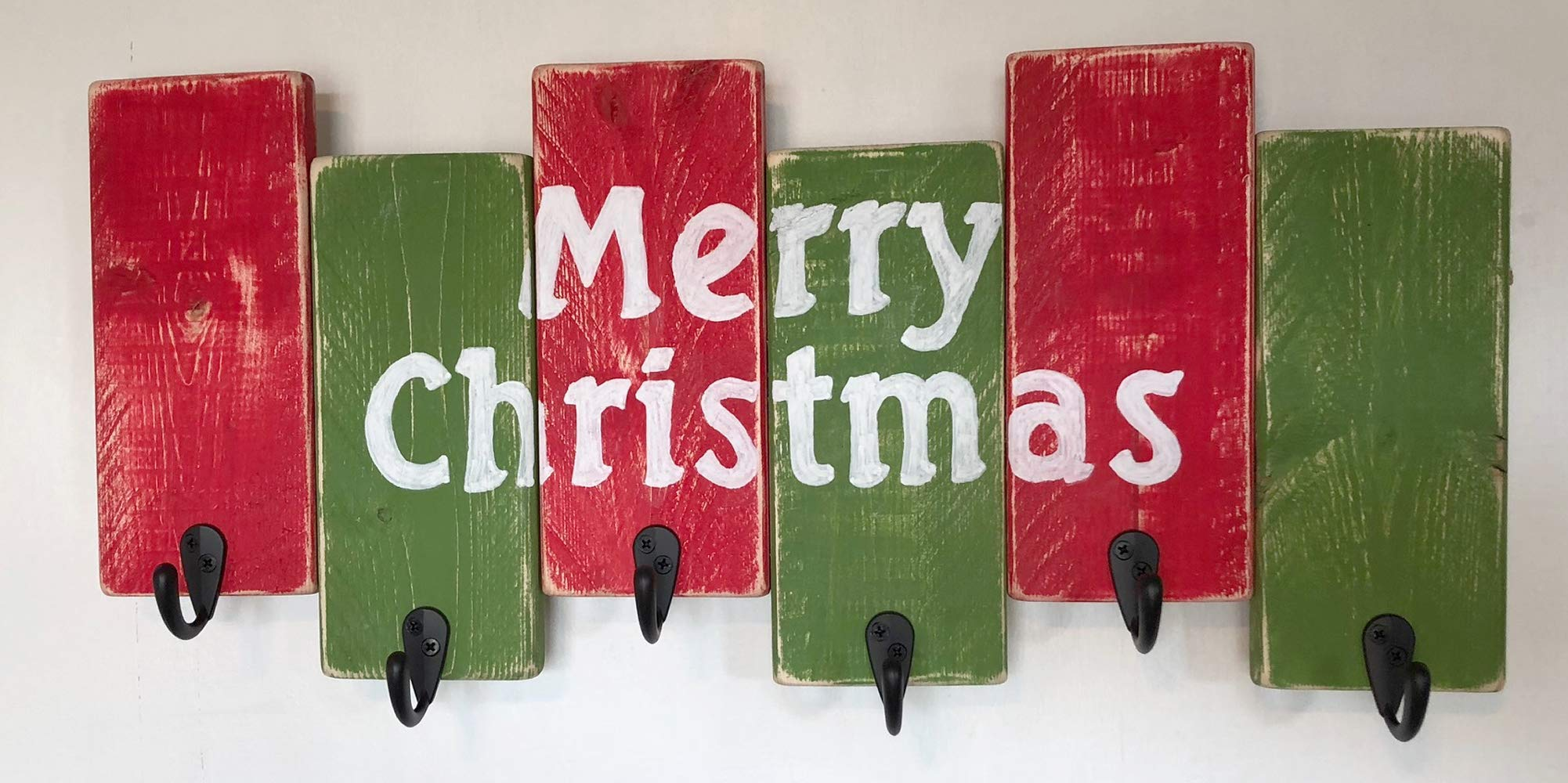Christmas Decor by Out Back Craft Shack: Christmas Stocking Holder:''Merry Christmas''