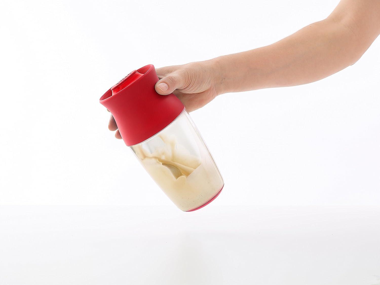 Kit coctelera y esp/átula L/éku/é 700 ml color rojo