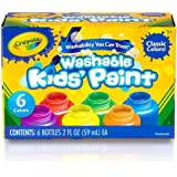 Crayola Washable Kids Paint, 6pk, Classic Colours, Children Art & Craft, Projects, Artist, Students, Creativity