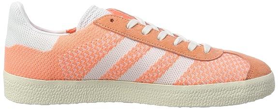 adidas Damen Gazelle Primeknit Sneaker, Gelb (Sun Glow/Footwear White/Chalk White), 40 2/3 EU