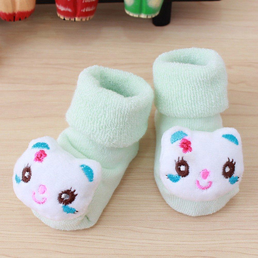 ❤️ Mealeaf ❤️ Cartoon Newborn Kids Baby Girls Boys Anti-Slip Warm Socks Slipper Shoes Boots by ❤️ Mealeaf ❤️ _ Baby Clothing Accessories (Image #2)