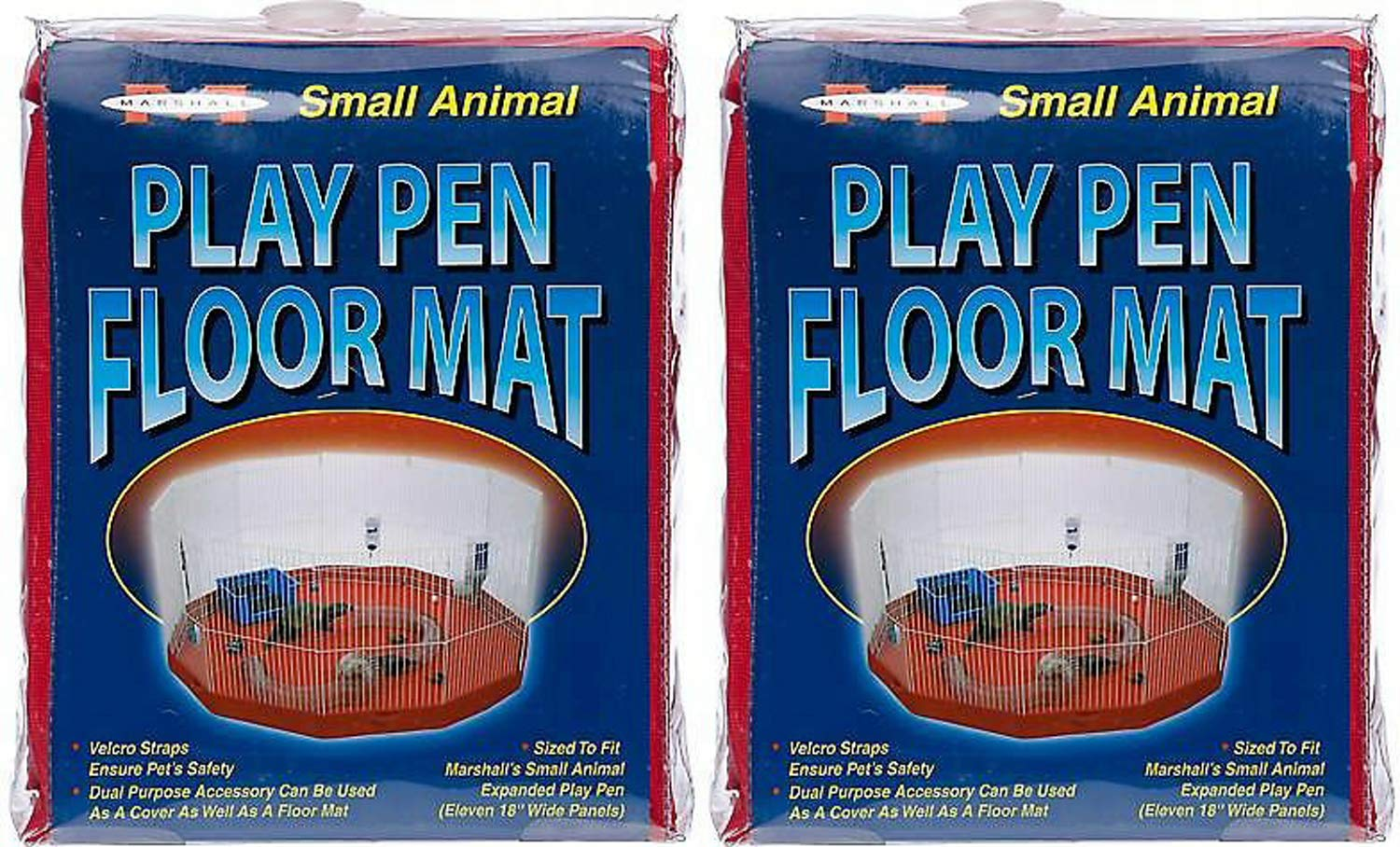 Marshall Mat/Cover for Small Animal Play Pens, Deluxe, 11 Panel, 2 Pack by Marshall (Image #2)