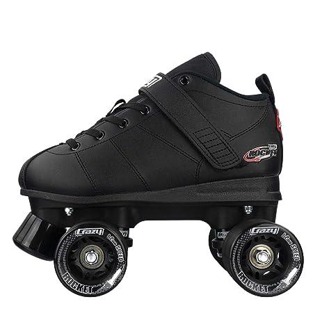 Crazy Skates Rocket Roller Skates Quad Skates for Men and Women Black and Red