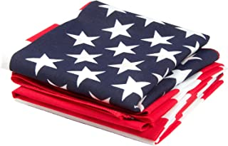 product image for American Flag Bandana 3-Pack - Made in USA for 70 Years - Sold by Vets – Sewn Edges