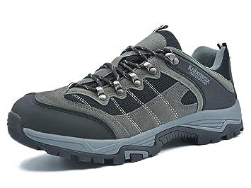 Knixmax Damen Herren Wanderschuhe Hiking Schuhe Outdoor Anti Rutsch Sohle Wasserdicht Trekking Wanderhalbschuhe EU 39 (UK 6) Brown