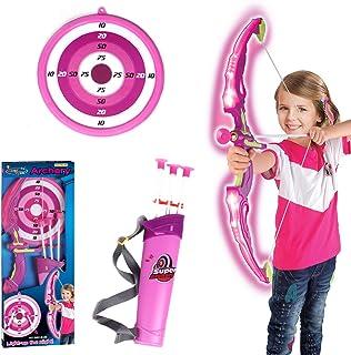 iVansa Simulation Arc et des Flèches en Plastique Doux Sucker Flèche Arc avec Cible Sport Jouets Jeux Jeu de tir à l'Arc, Le Cadeau Parfait pour Les Enfants