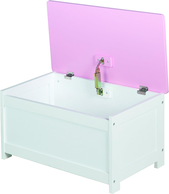 roba Coffre /à jouets Queen coffre /à jouets pour sasseoir et garder pour la chambre denfant coffre en rose.