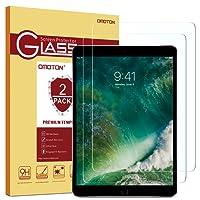 [2 Pezzi] OMOTON iPad 9.7 Pellicola Protettiva in Vetro Temperato per il nuovo iPad 9.7 2017/2018, iPad Pro 9.7 / iPad Air / iPad Air 2 con Bordi Arrotondati 2.5D - Anti-graffi - Durezza 9H - 99% di Trasparenza e Sensibilità
