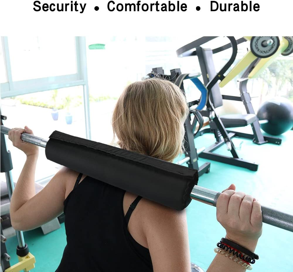 Squat Barbell Pad Bar Supports Gym Weight Lifting Usable Up Shoulder Neck