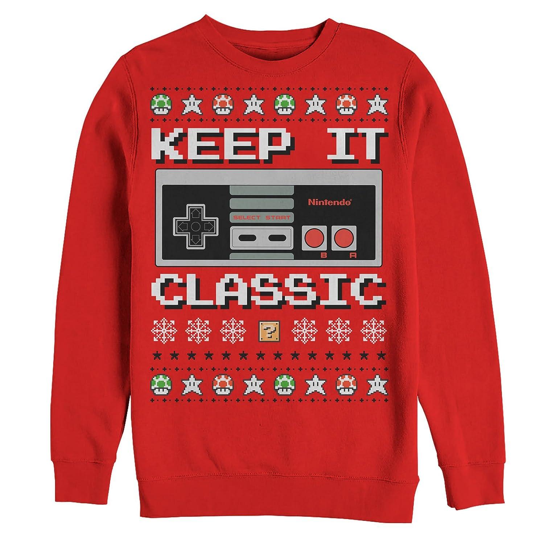 Nintendo Men\'s Ugly Christmas Sweater NES Classic Controller ...