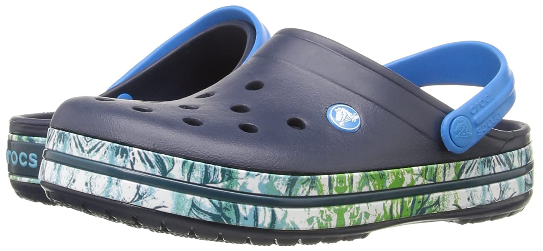 13 US Women Crocs Unisex Crocband Tropical III Clog Mule Navy 11 US Men