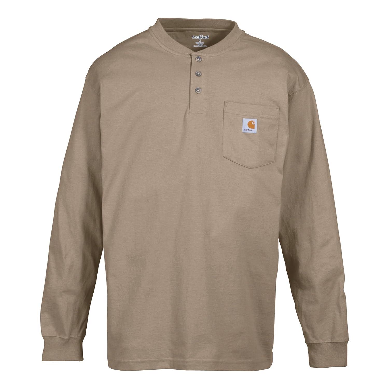 3a6d66269224b9 Carhartt Men's Pocket Long-Sleeve Henley Shirt at Amazon Men's Clothing  store:
