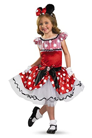Disguise Girlu0027s Disney Red Minnie Mouse Tutu Prestige Costume ...  sc 1 st  Amazon.com : little girl minnie mouse costume  - Germanpascual.Com