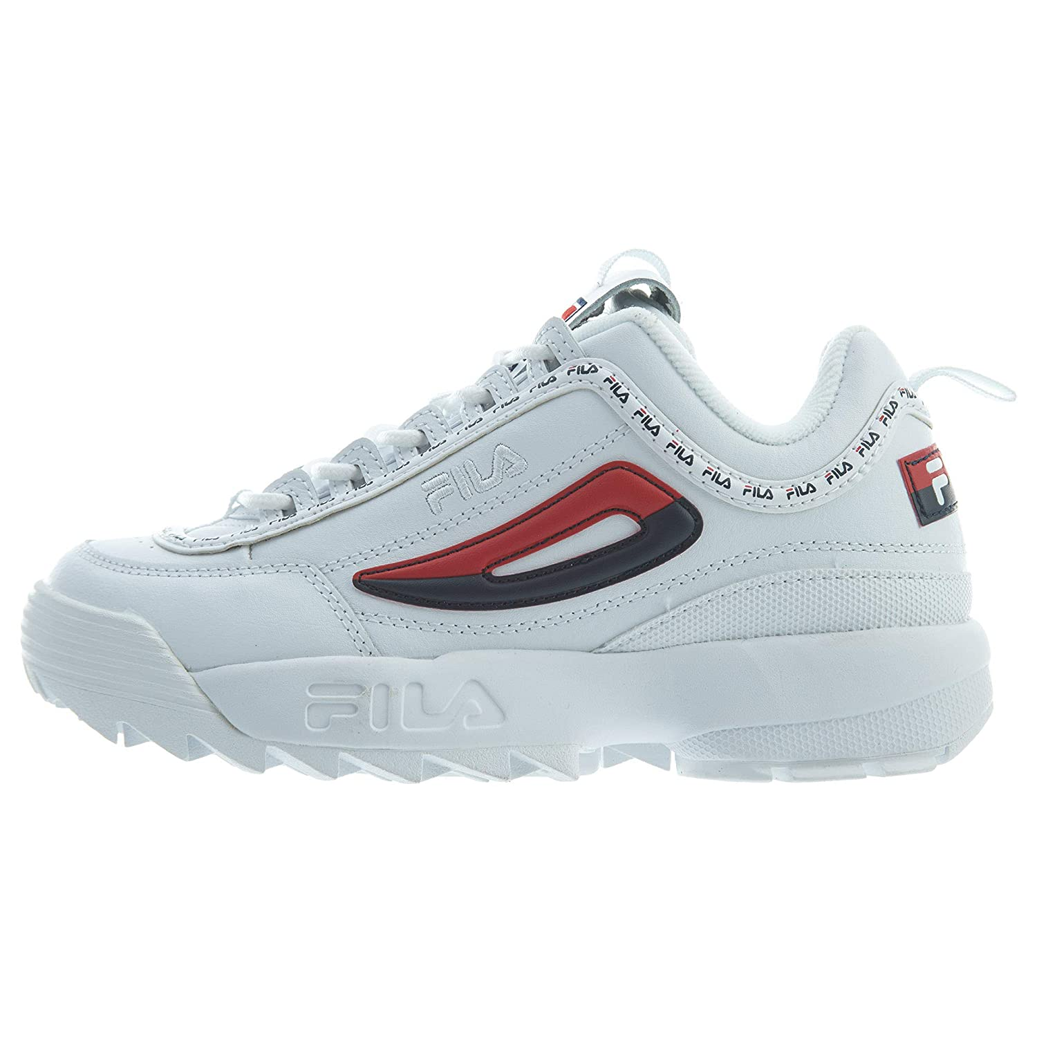 46c157edc2c7 Fila Disruptor 2 Premium Repeat White Navy Red (Womens)  Amazon.ca  Shoes    Handbags