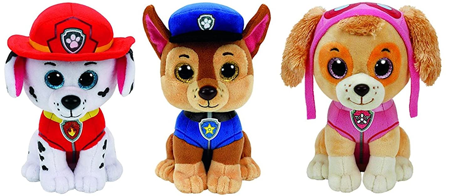 b4d480dd7ff Amazon.com  Ty Paw Patrol Beanie Babies - Set of 3! Marshall