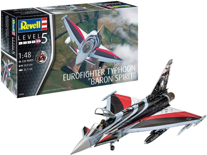 Revell- Eurofighter Typhoon Baron Spirit Kit Modello, Color Plateado (03848): Amazon.es: Juguetes y juegos