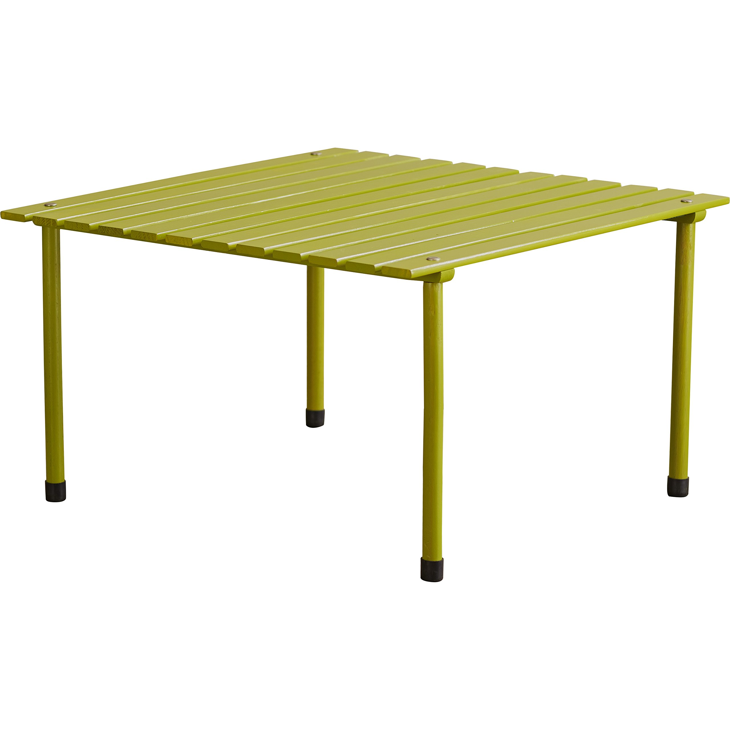 Transitional Style Jocelyn Millennium Lightweight Picnic Table with Carry Bag Made w/ Wood in Green Finish 16'' H x 27'' L x 27'' W in.