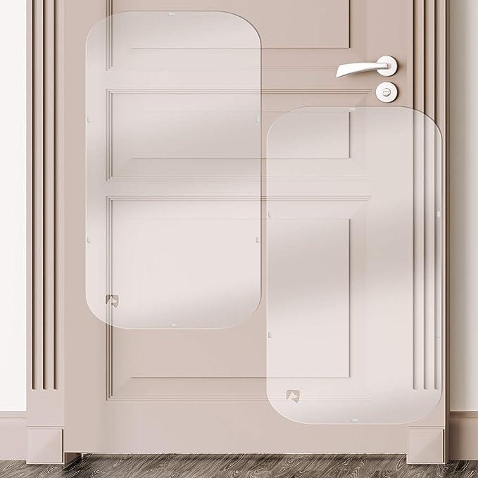 Petfect - Juego de 2 protectores de arañazos de mascotas para puerta, para uso interior y exterior, transparente (35,5 x 15,5 cm): Amazon.es: Productos para mascotas