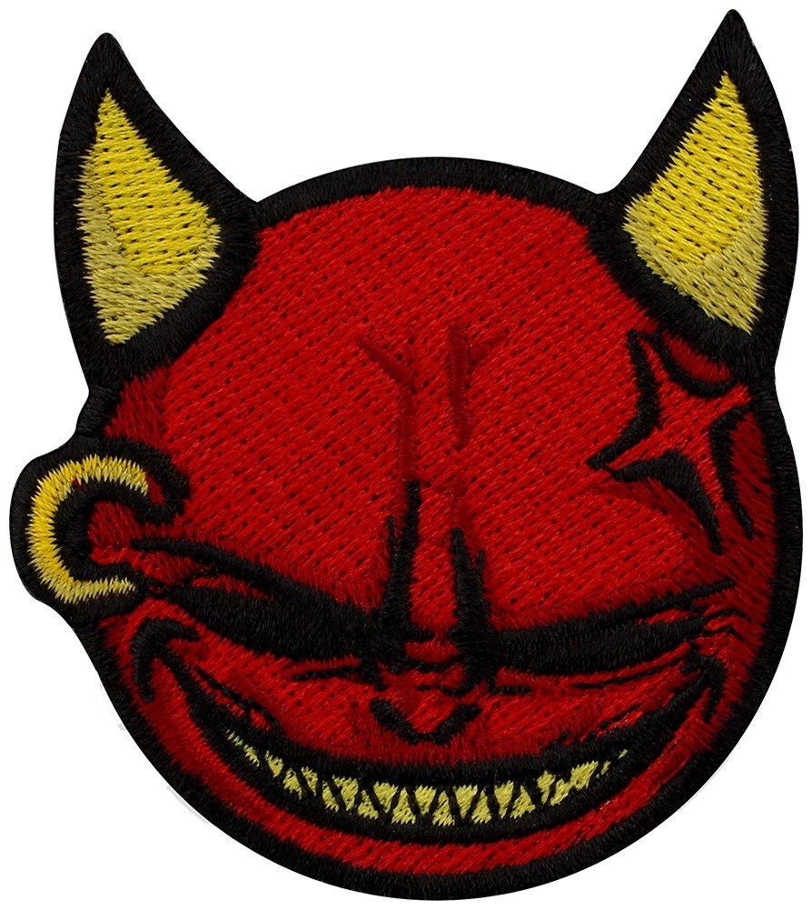 Grindstore Targhetta vivigade toppa Laughing Devil 6 x 7 cm