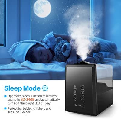 Elechomes UC5501 Ultrasonic Humidifier 6L Vaporizer Warm and Cool Mist for Large Room Baby Bedroom with Remote, Customized Humidity
