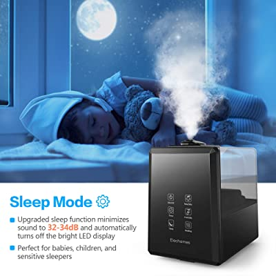Elechomes UC5501 Ultrasonic Humidifier 6L Vaporizer Warm and Cool Mist for Large Room Baby Bedroom with Remote