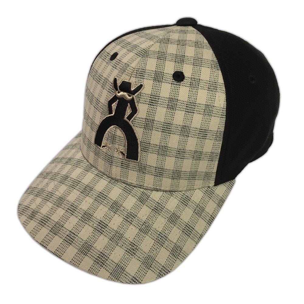 HOOey Brand Cocinero Black/Tan Plaid Flexfit Hat - Youth Size