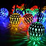Techno E-Tail Moroccan Metal Balls 17 LED Decoration Lights for Festival Diwali Christmas Tree Lights (Multi Color)