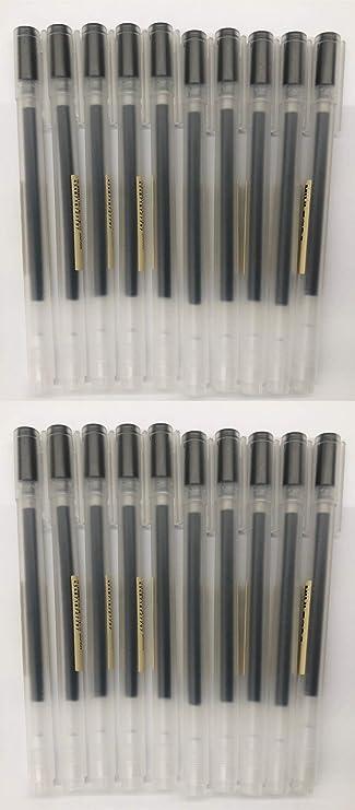 JAPAN import Gel Ink Muji Ballpoint Pens 0.7mm Black color 10pcs 2019 New ver