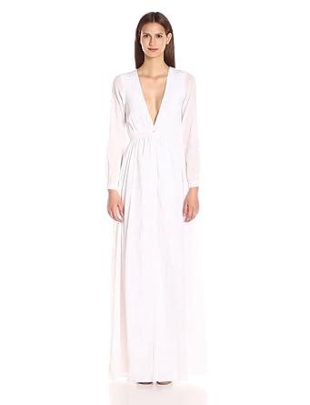 Mara Hoffman Women's Wheatfield Embroidery Maxi Dress, White, ...
