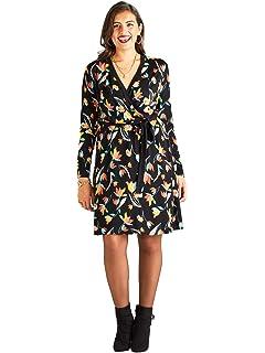 7c925b15339 Yumi Curves Tulip Ponte Skater Dress  Amazon.co.uk  Clothing