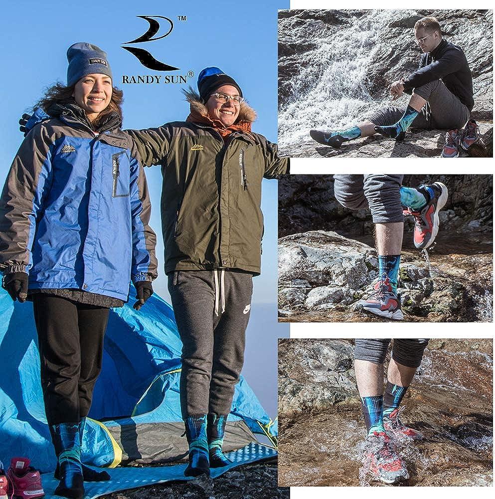 SGS Certified RANDY SUN Waterproof Skiing Socks, Unisex Knee Length Breathable Hiking Trekking Sock 1 Pair