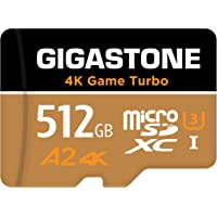 Gigastone 512GB Micro SD Card, 4K Game Turbo, MicroSDXC Memory Card Compatible with Nintendo-Switch, R/W up to 100/60MB…