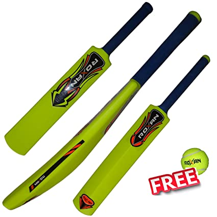 Buy Roxan New Plastic Cricket Bat Parrot Green With One Free Tennis