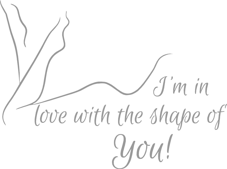 Ed Sheeran Shape Of You Love Song Music Lyrics Quote Sticker Bedroom