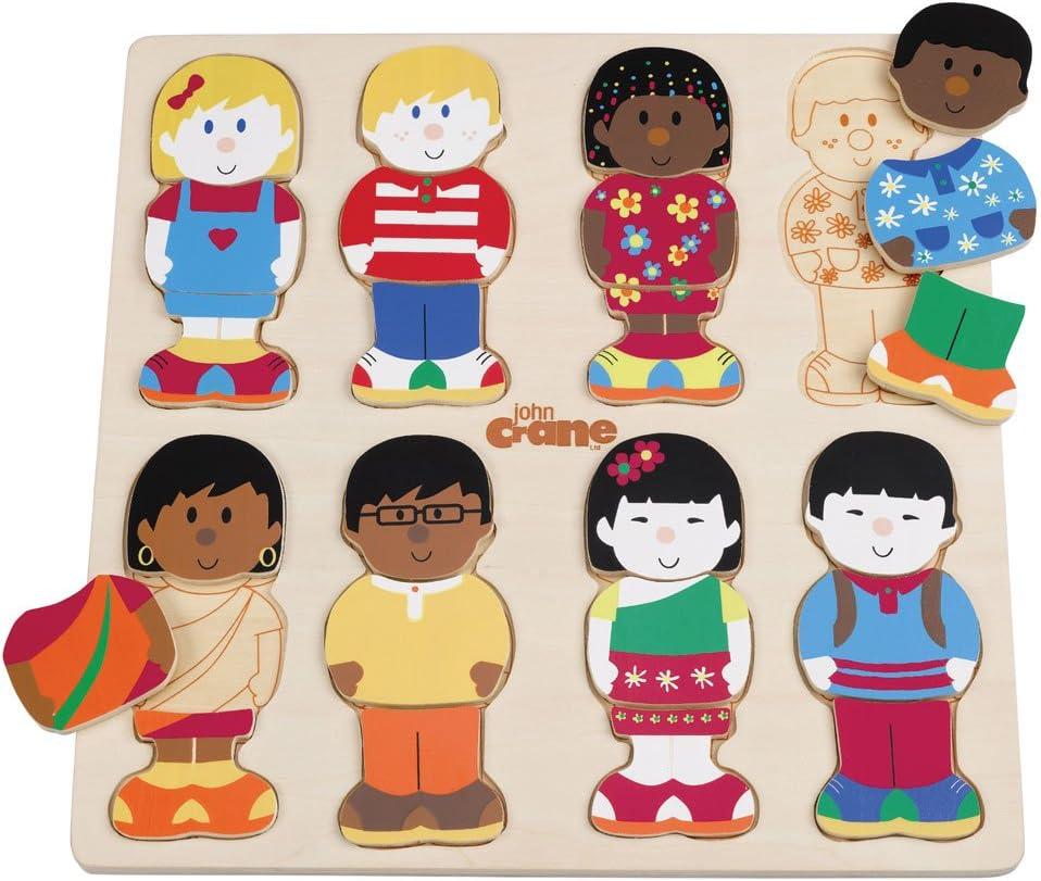 Tidlo En Bois Multicultural poupées-Noir famille