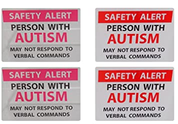 Amazoncom Autism Safety Alert Window Cling And Decal Pack - Window alert decals amazon
